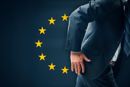 Exit EU concept. Politician want to leave European Union.