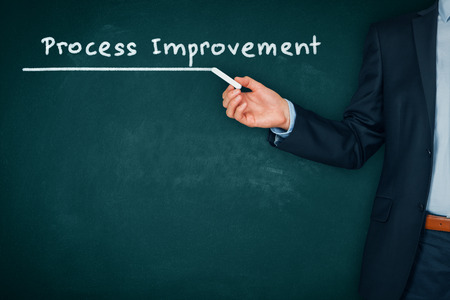 Process improvement heading - title page or background for business slide show for presentations.