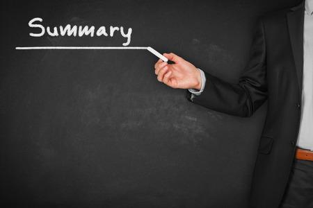 Rubrique de résumé - page de titre ou arrière-plan pour les diaporamas professionnels pour les présentations. Banque d'images
