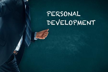 Développement personnel, croissance personnelle et professionnelle, progrès et concepts potentiels. Banque d'images