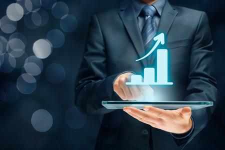 la croissance de la notion d'analyse d'affaires. la croissance du plan d'affaires et l'augmentation des indicateurs positifs dans son entreprise.