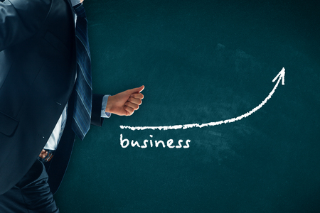 Manager (businessman, coach, leadership) hurry to increase business growth.