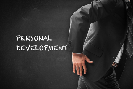 Personal development, personal and career growth, progress and potential concepts.