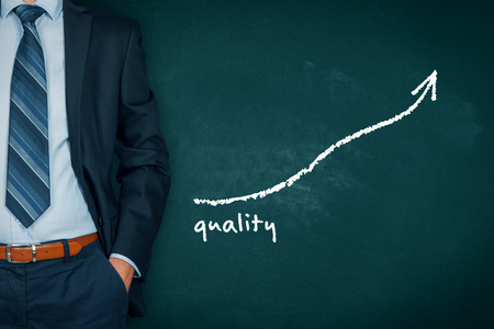 Manager (businessman, coach, leadership) plan to improve quality.