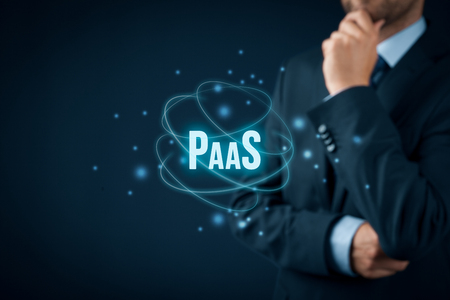 Platform as a service (PaaS) - cloud computing services concept. Platform for customers helps develop, run, and manage applications without building and administrate the infrastructure.