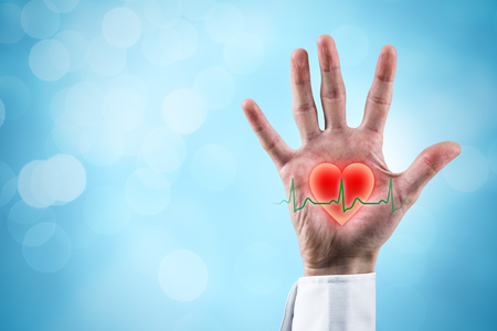 Healthcare and heart problems prevention (cardiology) concept.