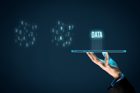 Data mining (data-mining) process and big data analysis (bigdata) issue concept. Banque d'images