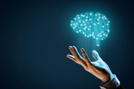 두뇌는 인쇄 회로 기판 (PCB) 디자인 및 인공 지능 (AI), 데이터 마이닝, 기계 및 심층 학습 및 다른 현대 컴퓨터 기술 개념을 나타내는 사