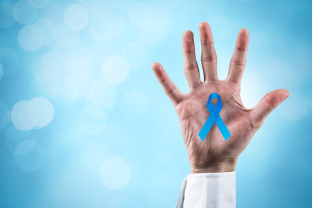 Prostate cancer prevention concept and genetic disorder awareness. Banque d'images