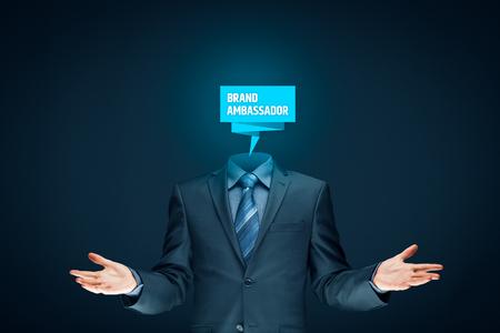 Brand ambassador professional. Corporate marketing specialist concept. Stock Photo