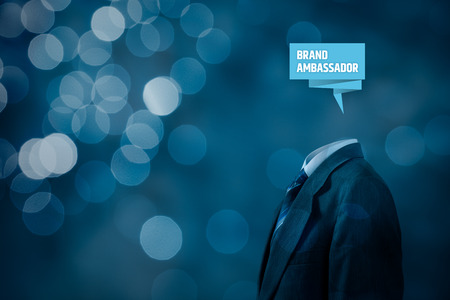 Brand ambassador professional. Corporate marketing specialist concept. Stock Photo