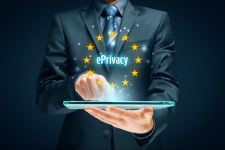 ePrivacy regulation concept. Privacy in electronic communications.
