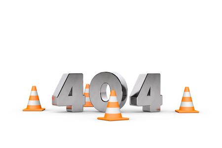 Http 404 error not found page template concept, 3d illustration.