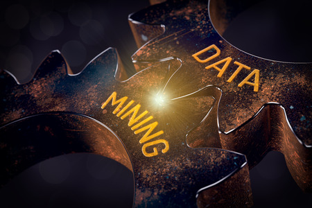 Data mining (data-mining) process and big data analysis (bigdata) issue concept. Stock Photo