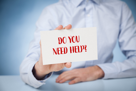 Do you need help? Professional expert or customer services support offer helping hand.