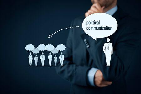 Politische Kommunikation Auswirkungen und Bedrohungskonzept des Populismus. Politische Kommunikation ist der Weg, das Denken der Öffentlichkeit zu ändern.