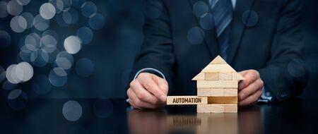 Mise en place de la domotique dans votre maison. Concept de maison intelligente, maison intelligente, domotique et domotique.