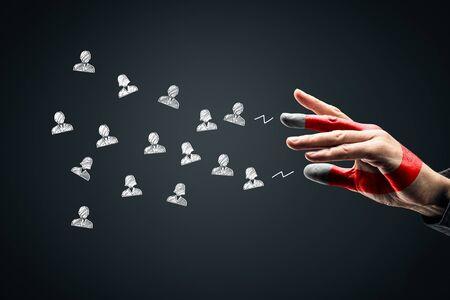Soyez un aimant pour vos clients, clients ou concept de ressources humaines.