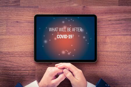 Post-covid-19 era concept. New phase and opportunity for humankind and individual persons after end of covid-19 pandemic. What will be after Covid-19?