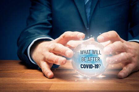 Investor predict what will be after covid-19 concept. Post-covid-19 era in business and investment concept.