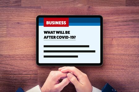 Post-covid-19 era in business and investment concept. Business news about new phase and opportunity for businessman and investors after end of covid-19 pandemic. What will be after Covid-19? Stock Photo