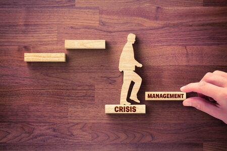 Le gestionnaire de crise aide l'entreprise à surmonter la crise pour démarrer une nouvelle croissance. Motivation pour la croissance après le concept de crise. Concept d'aide à la gestion de l'ère post covid-19.