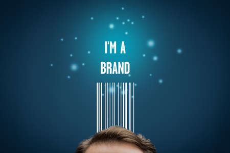 I am a brand - business model and marketing with personal branding concept.