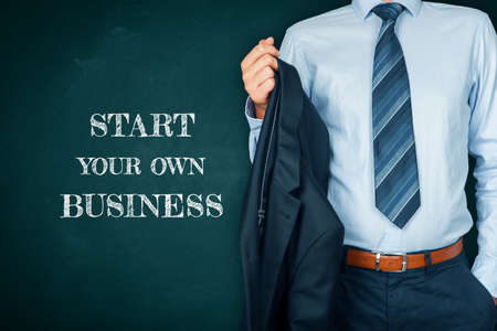Start your own business concept. Unemployed manager due to coronavirus crisis take the opportunity and start new business. Post covid-19 business startup and investment concept.
