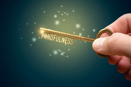 Mindfulness is key for mental and physical health. Personal development concept. Imagens