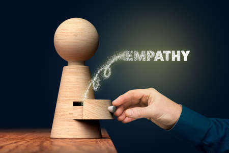 Discover your empathy inside of you concept. Emotional intelligence and psychology concept.