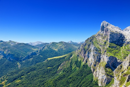 Picos de Europa seen from Fuente De, Cantabria, Spain