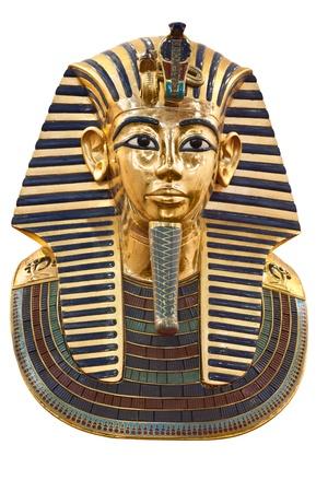 Modern copy of Tutankhamun mask isolated
