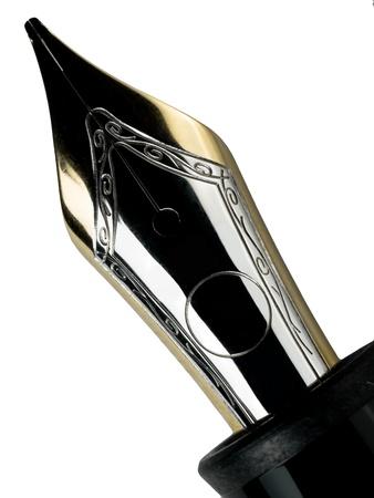 lapiceros: pluma estilogr�fica aislados en el fondo withe Foto de archivo