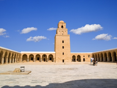 kairouan: Great mosque of Kairouan, Tunisia Stock Photo