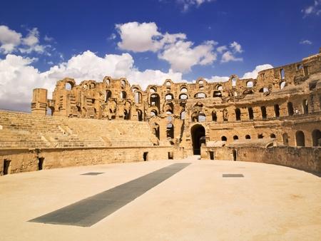 amphitheater: El Djem amphitheater, Tunisia  Stock Photo