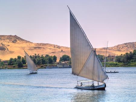 nile: Images from Nile  Felukas sailing