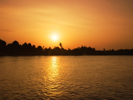 nile: Images from Nile  golden sunset