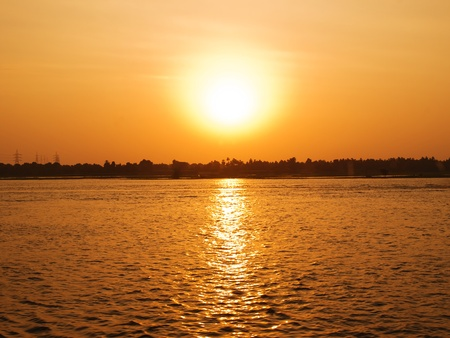 nile river: Images from Nile  golden sunset