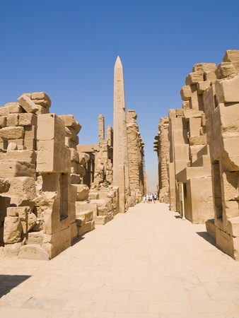 thebes: Main street of Karnak temple, Thebes, Egypt