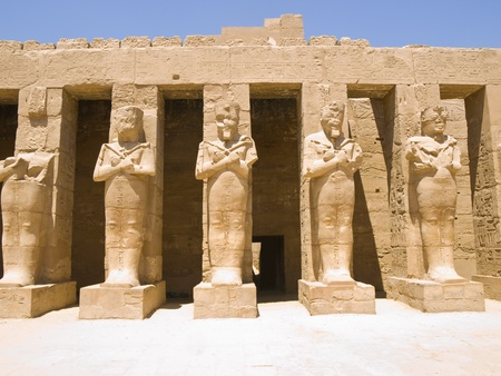 thebes: Colosus at Karnak Temple  Thebes  Egypt Stock Photo
