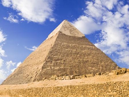 chephren: Pyramid of Chephren, Egypt Stock Photo
