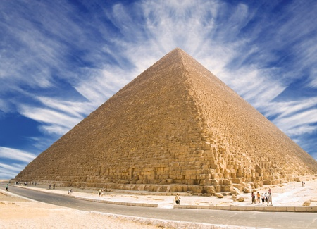 Pyramid of Cheops, Egypt Stock Photo