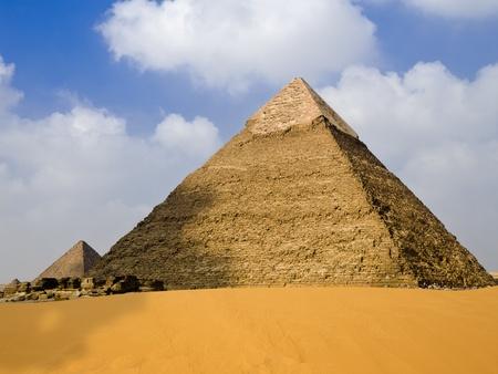 Pyramid of Chephren, Egypt Stock Photo