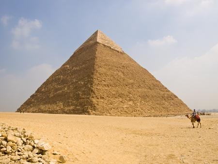 chephren: Pyramid of Chephren  Panoramic Stock Photo