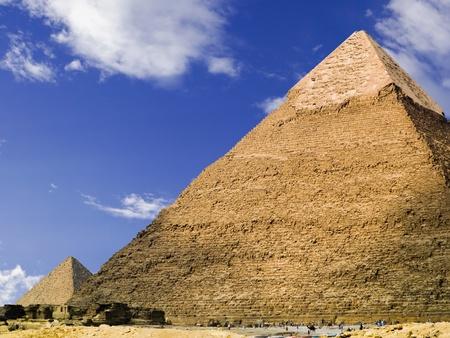 chephren: Pyramid of Chephren  Egypt Stock Photo