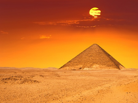 Grote piramide van Dashur Rode piramide Stockfoto