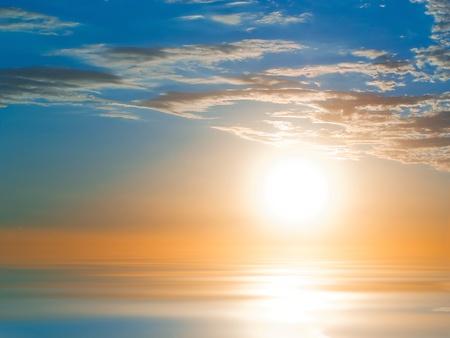 Amazing sunrise over sweet water waves photo