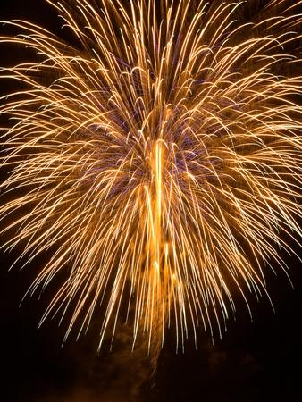 Golden Fireworks display photo