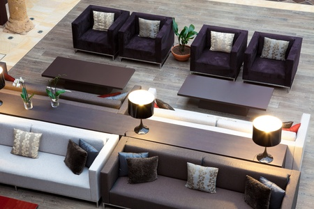 top view of a sofas area in a hotel Editorial