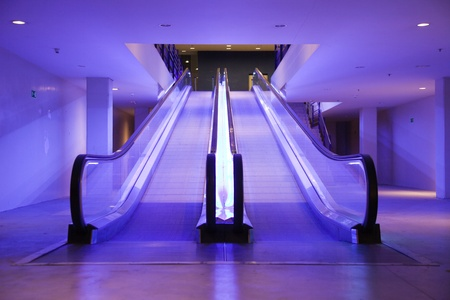 view of a staircase in a shop: Escalator Editorial